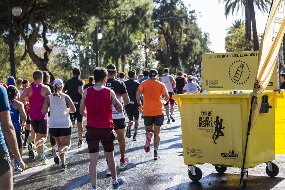 Ecoembes recoge 14,6 toneladas de envases durante el Maratón