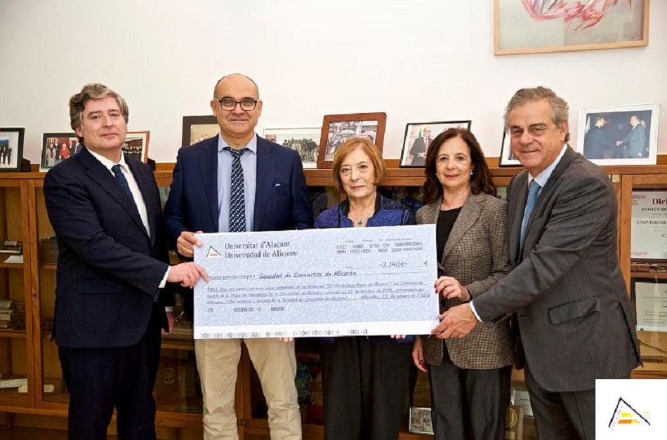 Imagen destacada La UA e Hidraqua entregan 3.140 euros a la Sociedad de Conciertos de Alicante