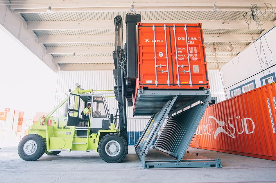 Imagen destacada El contenedor de Navlandis, listo para ser usado en el transporte marítimo