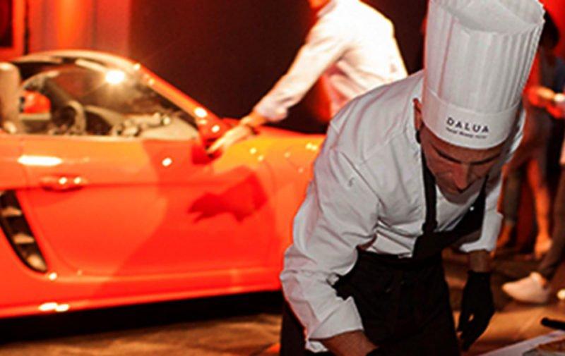 Evento de Porsche con catering de Dalua.