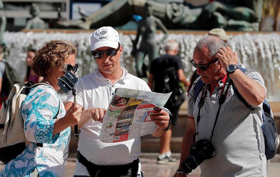 Las entradas de turistas extranjeros a la Comunitat caen en septiembre 81,7 %