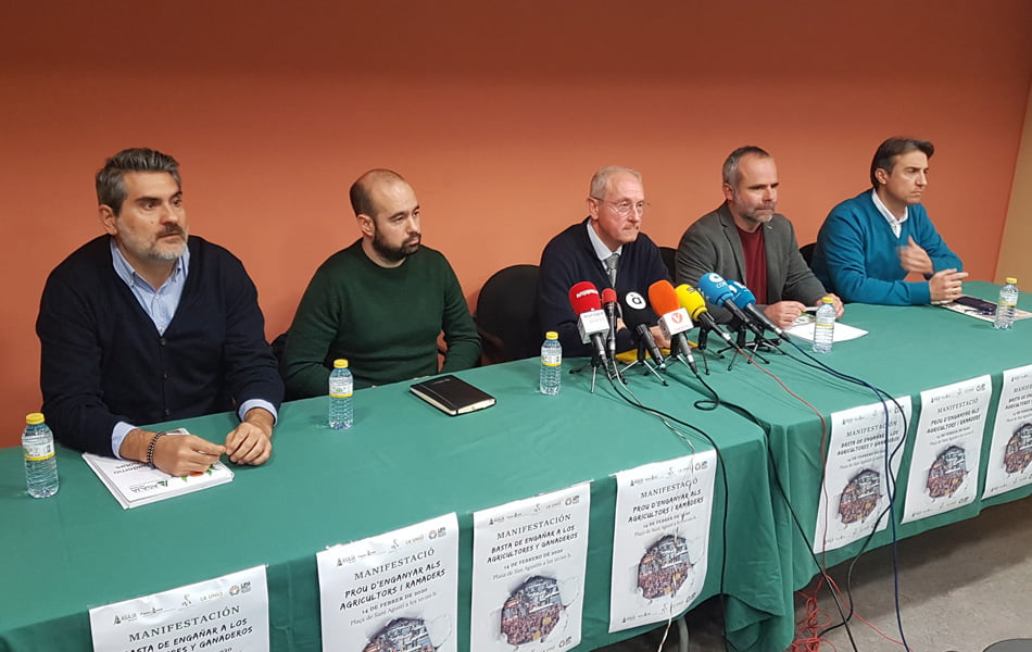 """Imagen destacada Los agricultores salen a la calle ante """"la situación límite"""" del campo valenciano"""