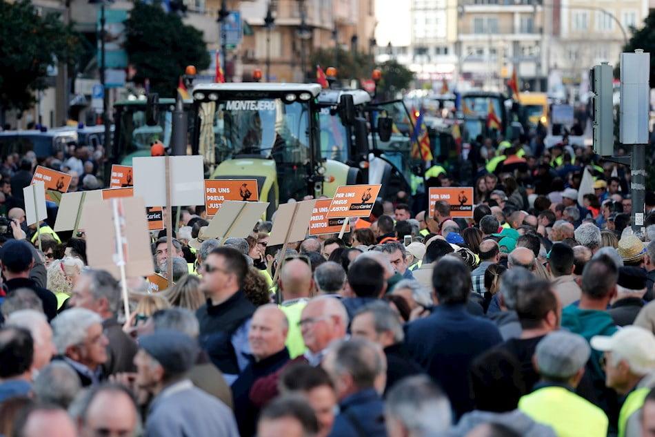Imagen destacada Multitudinaria 'tractorada' en València para exigir precios justos en agricultura