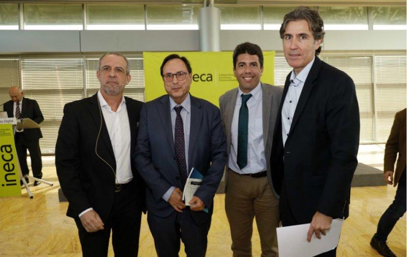 Perfecto Palacio, Vicent Soler, Carlos Mazón y Rafael Ballester.