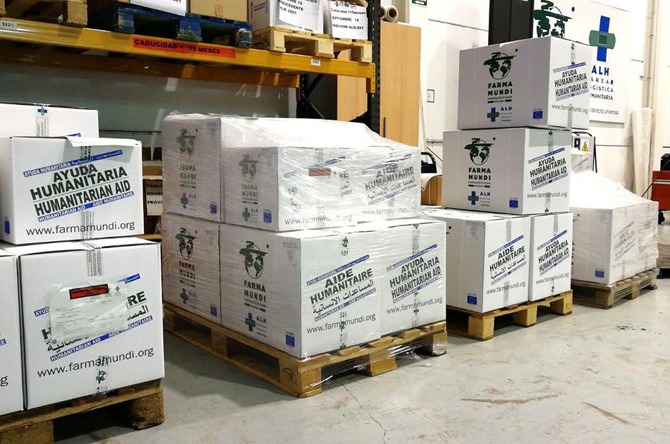 Farmamundi suministra 9 toneladas de material sanitario a actores humanitarios