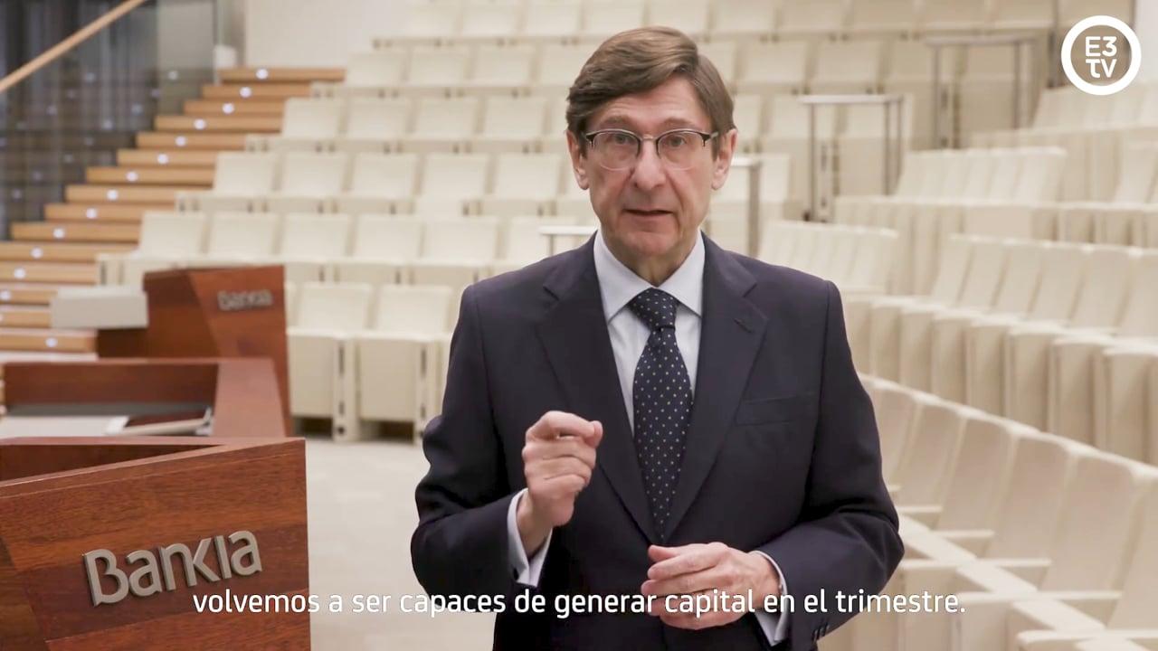 Bankia ganó un 54,14% menos hasta marzo