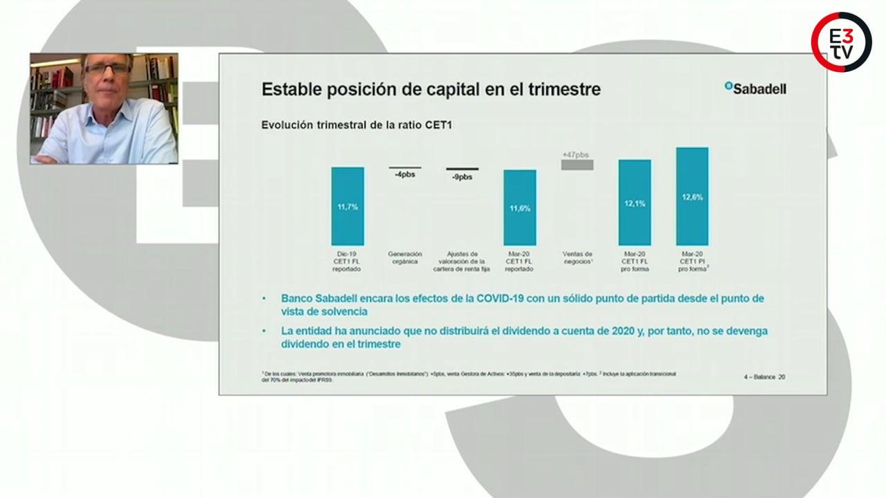 Sabadell gana un 63,7 % menos y se prepara para la crisis