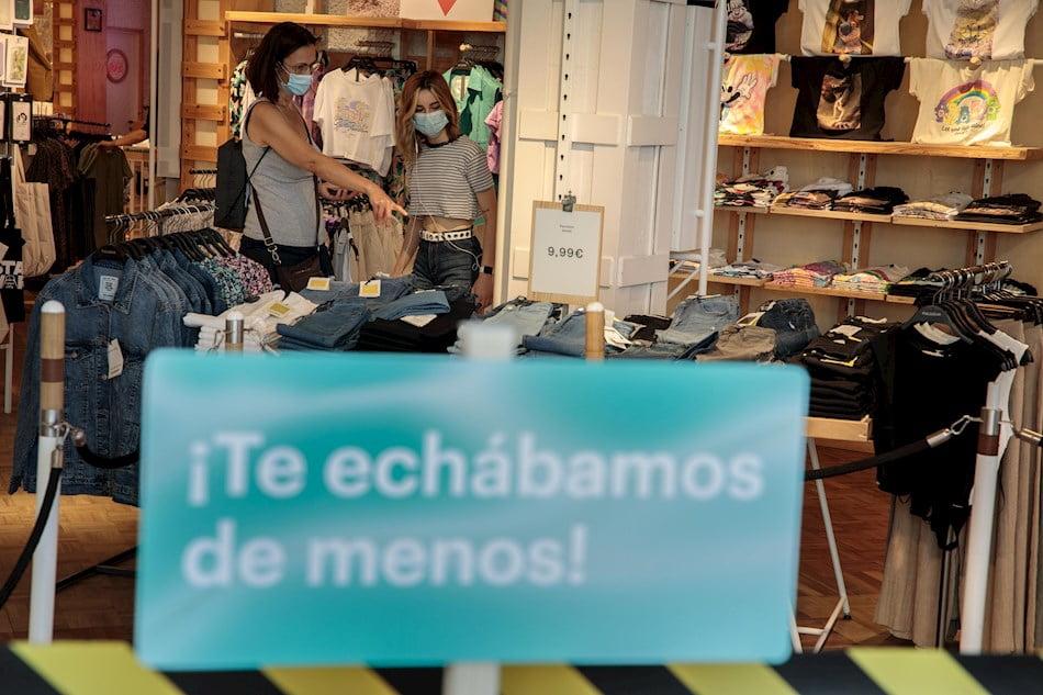 Las visitas a tiendasexperimentan una caída generalizada del 40 %