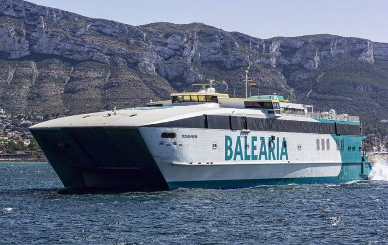 Baleària retoma las conexiones a las Baleares a partir del lunes 25 de mayo