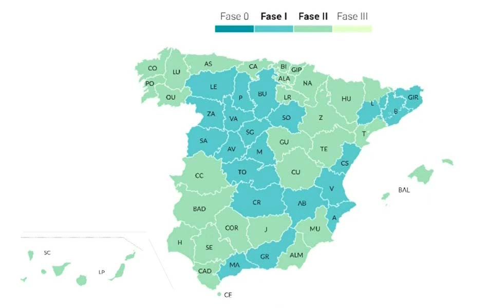España entra en dos velocidades de desescalada: Madrid y Barcelona en Fase 1