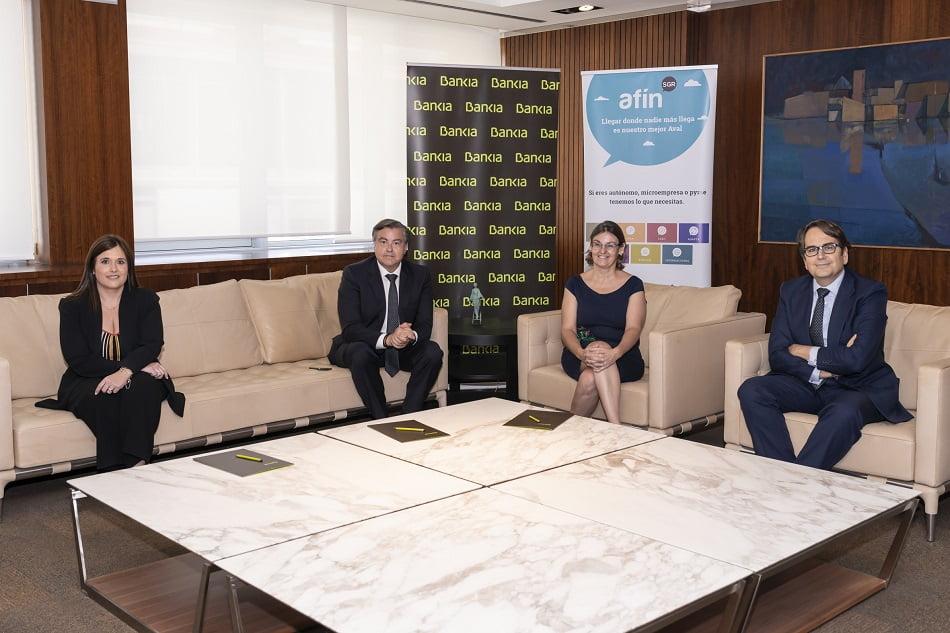 Bankia y Afín SGR firman una línea de 36 millones para financiar autónomos y pymes