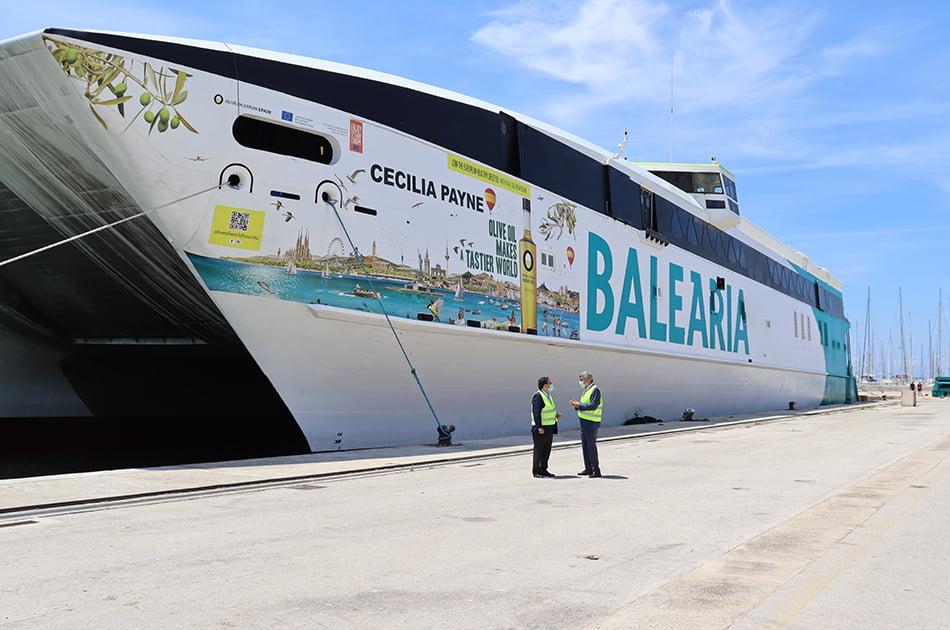 Imagen destacada El fast ferry de Baleària promocionará el aceite de oliva español