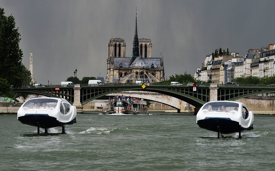 Imagen destacada Tecnología con sello valenciano en el hidrotaxi volador que ha conquistado París