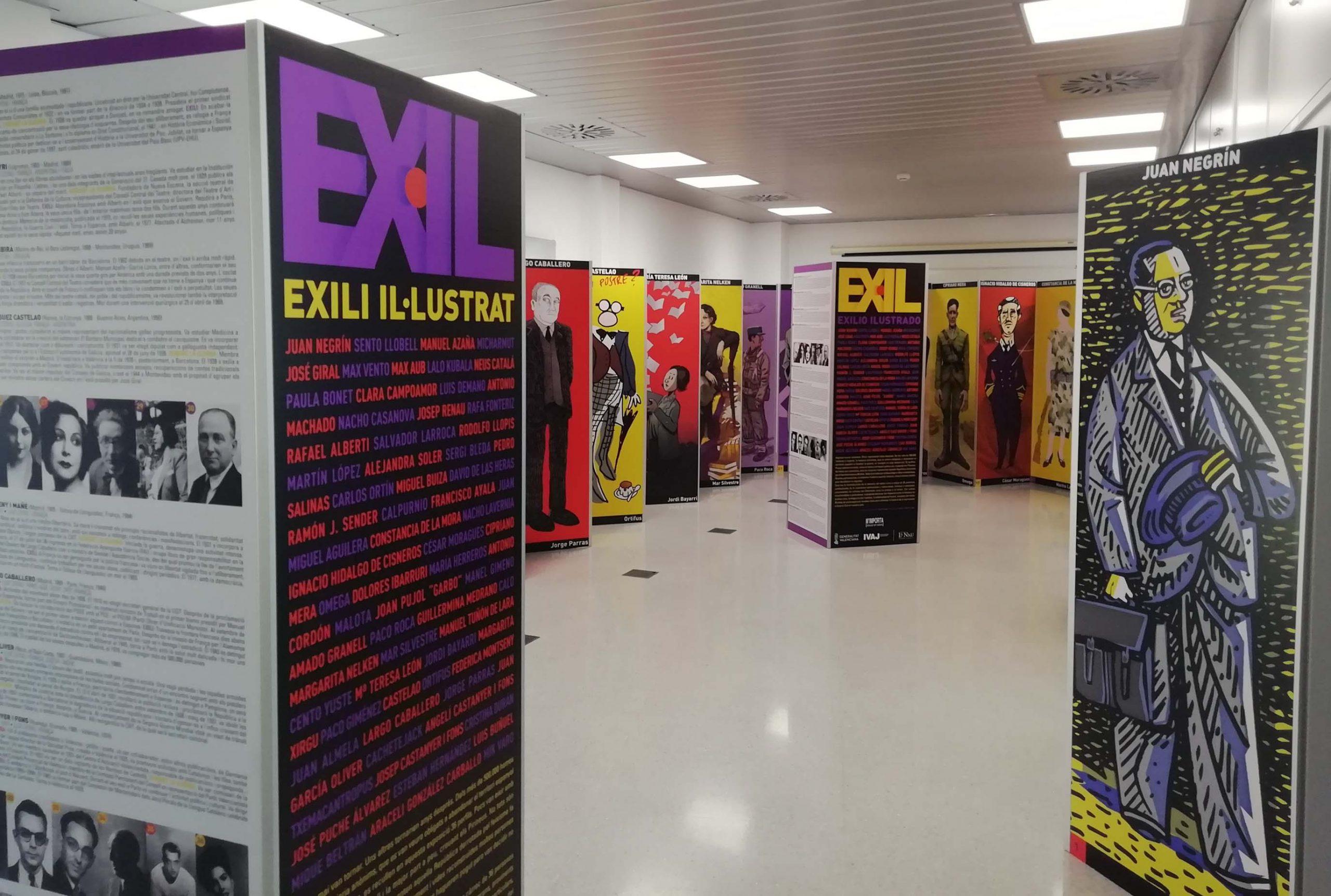 Imagen destacada 'Exili Il·lustrat', exposición itinerante del IVAJ, viaja a Macastre, Argelita y Alborache