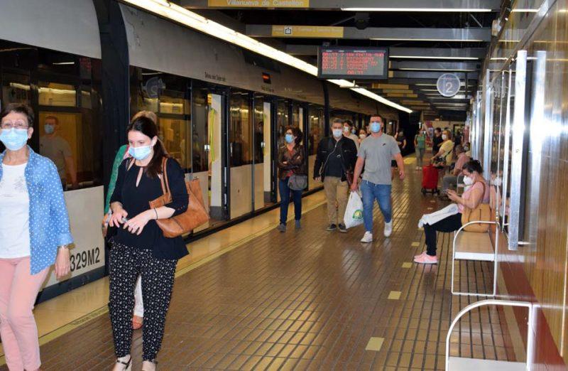 Metrovalencia restablecerá el martes los horarios habituales de metro y tranvía