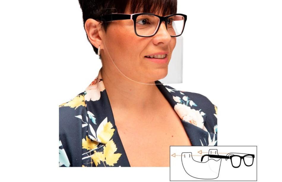Disfrazzes lanza una pantalla protectora para Covid-19 integrada y sujeta a las gafas