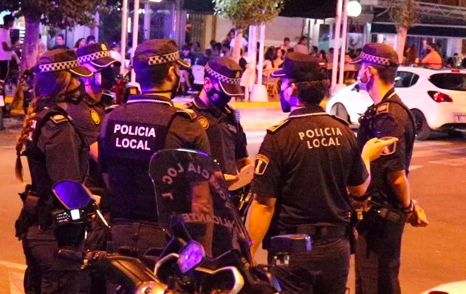 La Policía Local impone 2.254 denuncias por incumplir las medidas sanitarias en Alicante