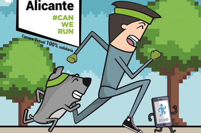 La Diputación de Alicante colabora con la carrera solidaria con mascotas 'Can We Run'