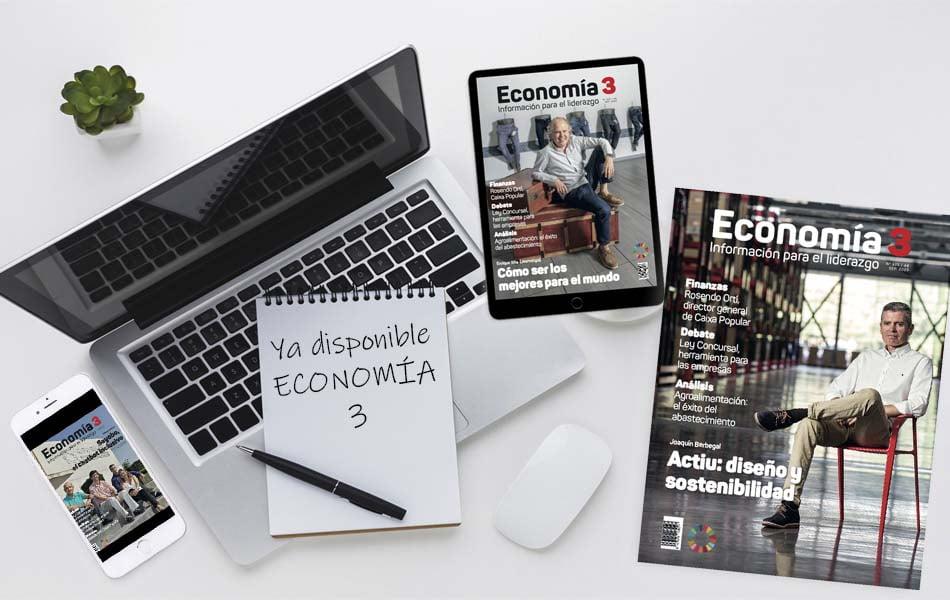 Imagen destacada La revista Economía 3 dedica su número al binomio liderazgo e innovación