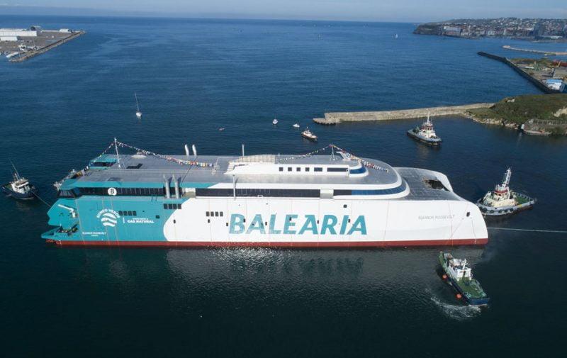 Baleària bota el primer fast ferry del mundo con motores a gas natural