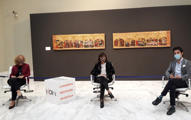 La predela del Centenar de la Ploma se expone en el Museo de Bellas Artes