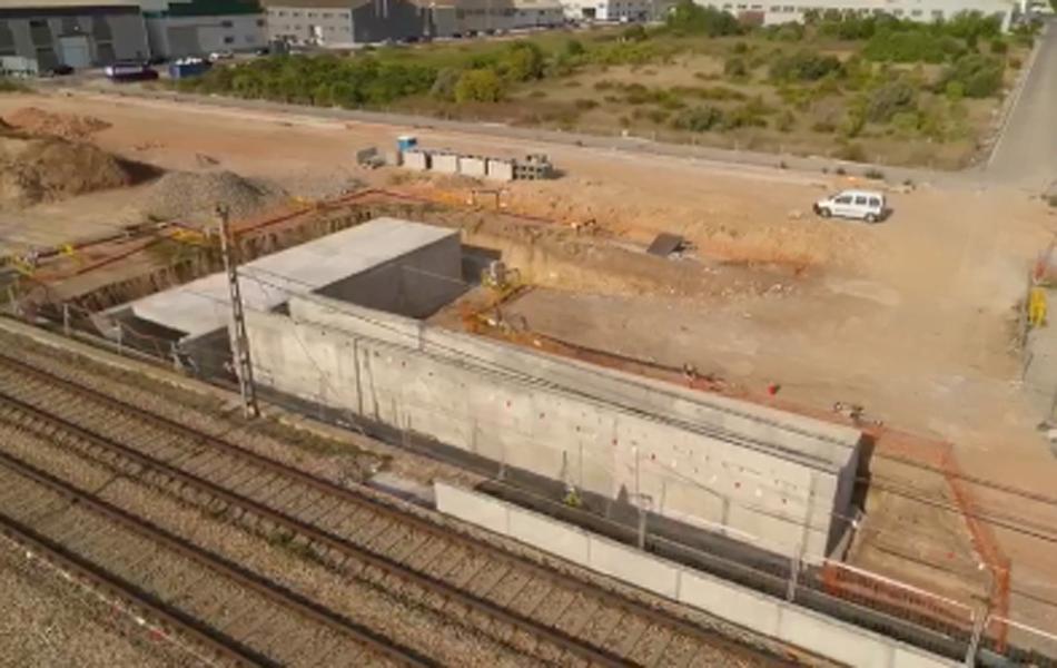 Imagen destacada Adif continúa las obras de la nueva estación de Cercanías en Albal