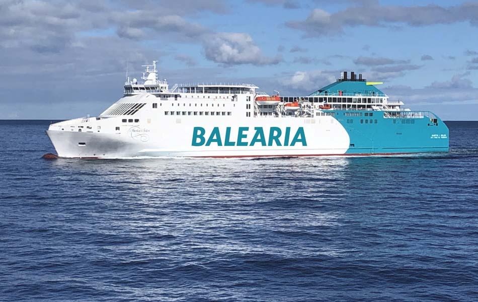 Baleària remotoriza un nuevo ferry para aumentar su flora a gas natural