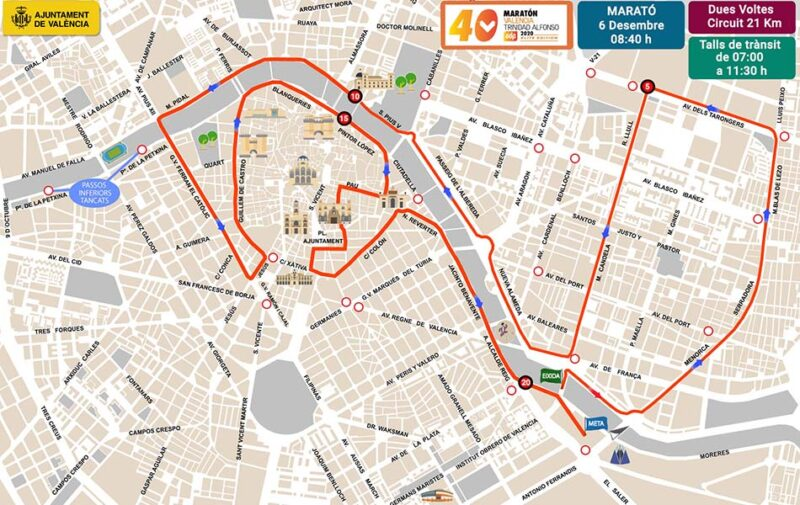 València se prepara para la maratón este fin de semana