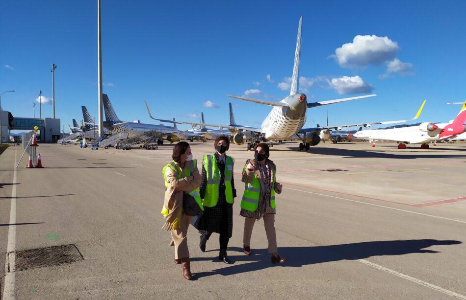 Aerocas y Generalitat se alían para captar inversores en el aeropuerto de Castellón