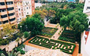 Vista de los jardines de la Alqueria