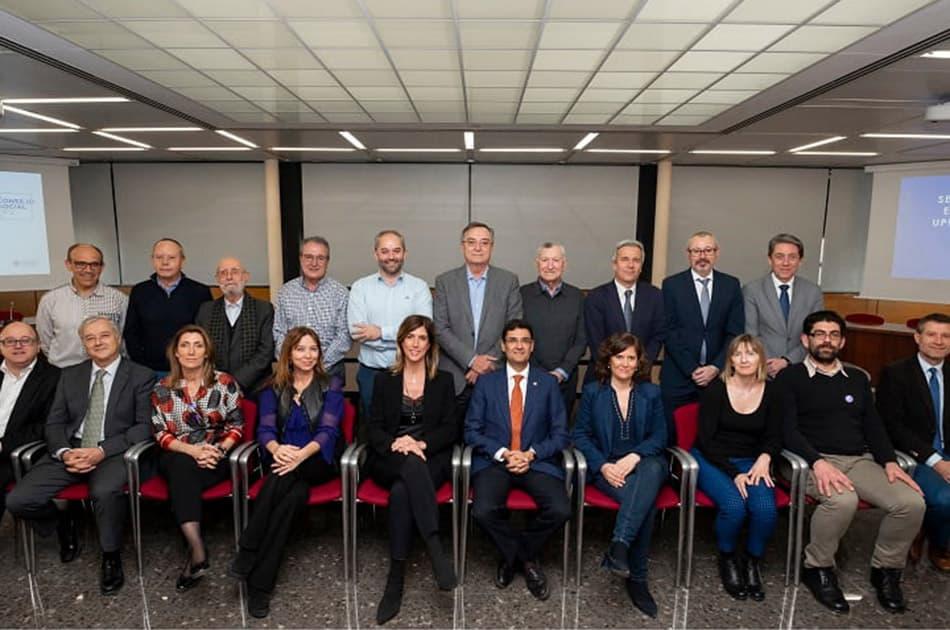 Miembros del Consejo Social de la UPV, con el rector Paco Mora