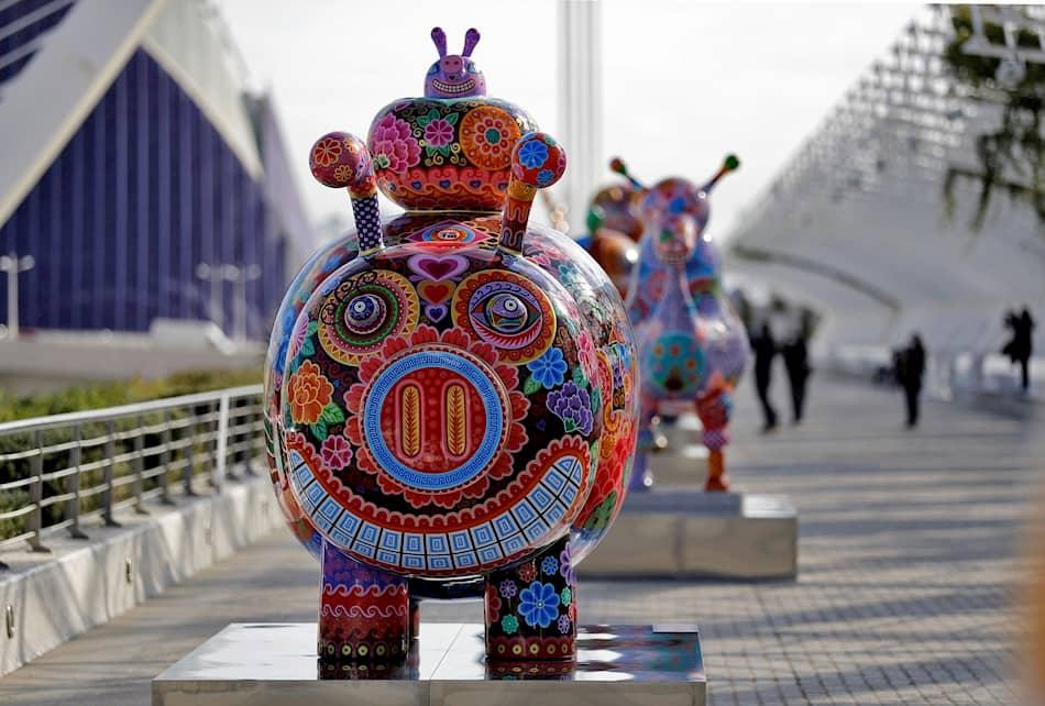 esculturas del artista Hung Yi