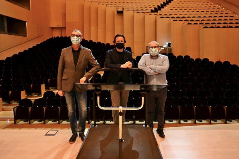 Alfonso Ribes, Jesús Iglesias Noriega y Gustavo Gimeno