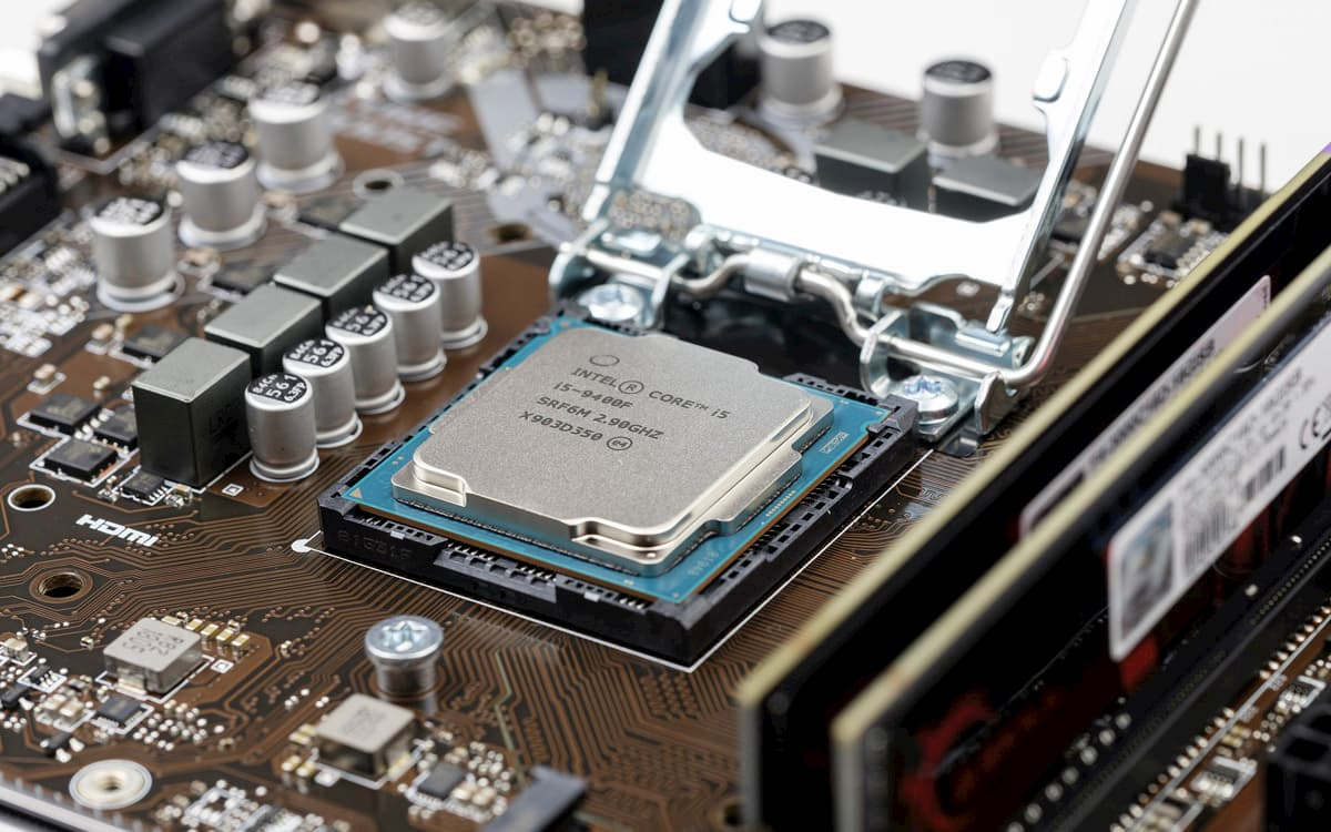 Uno de los microprocesadores de Intel.