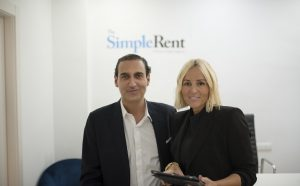 Socios fundadores The Simple Rent, Sonia Campuzano y Antonio Jesús Gómez
