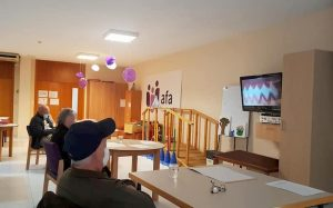 Alumnos del programa 'Marq: Museo y Memoria contra el Alzheimer'