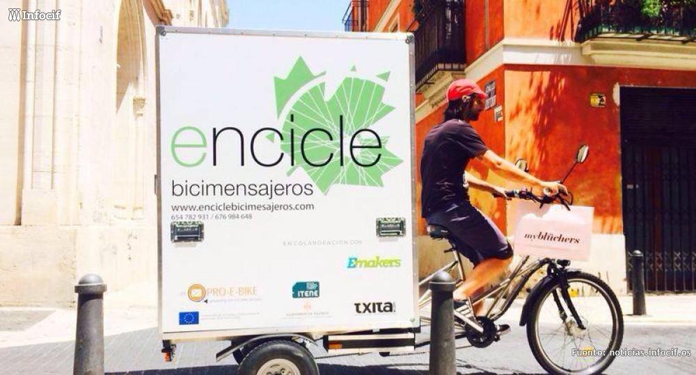Encicle es una empresa de 'bicimensajeria' comprometida con las necesidades de la ciudad de Valencia