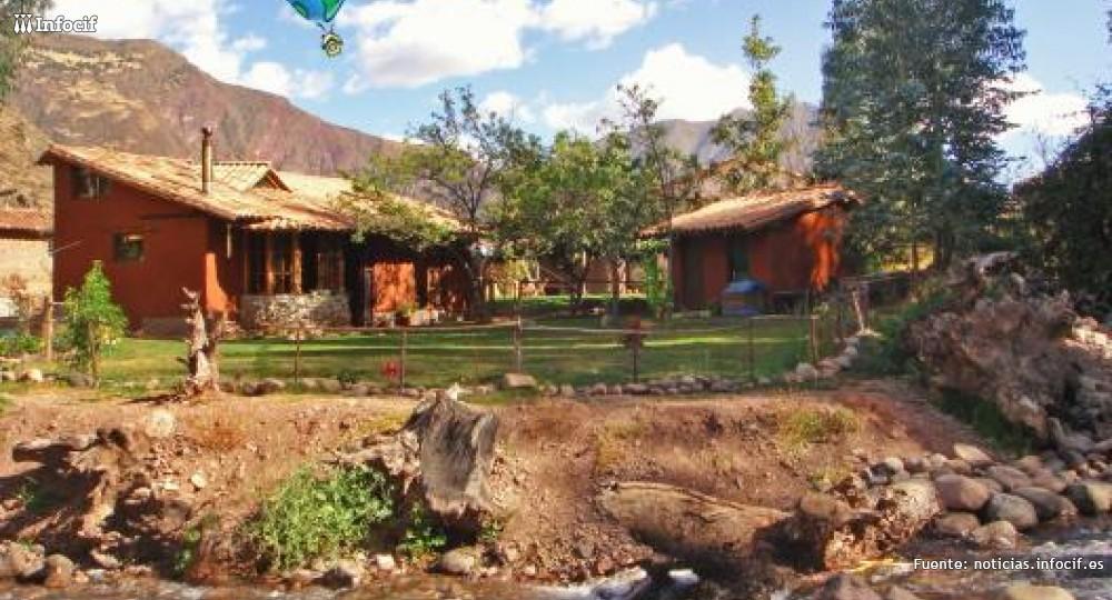 Una de las casa rurales situadas en en el pueblo rural de Huaran, Perú