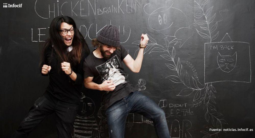 Los fundadores de Chickenbrainken, Jorge Mendoza y Sergio Fernández