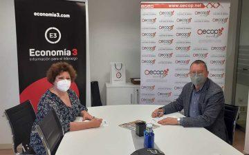 Pilar Colilla (Aecop) y Carlos Arnal (Economía 3)
