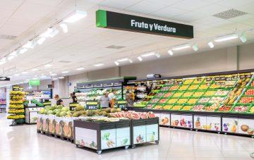 Mercadona sección frutas y verduras