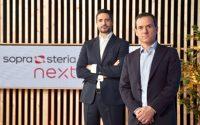 Antonio Peñalver, director general de Sopra Steria, (dcha.) y Carlos Morón, director de Sopra Steria Next