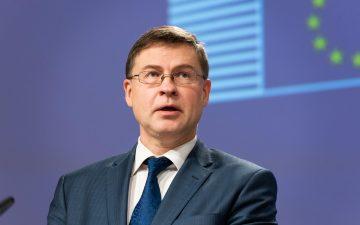 Valdis Dombrovskis. vicepresidente económico del ejecutivo comunitario