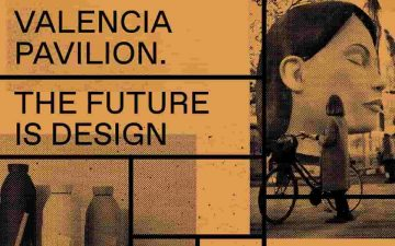 Cartel de la muestra Valencia Pavilion. The Future is Design