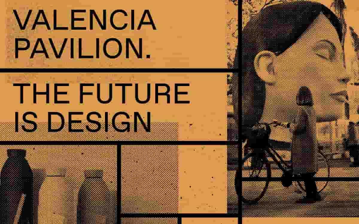 Cartel de la muestra Valencia Pavilion. The Future is Design