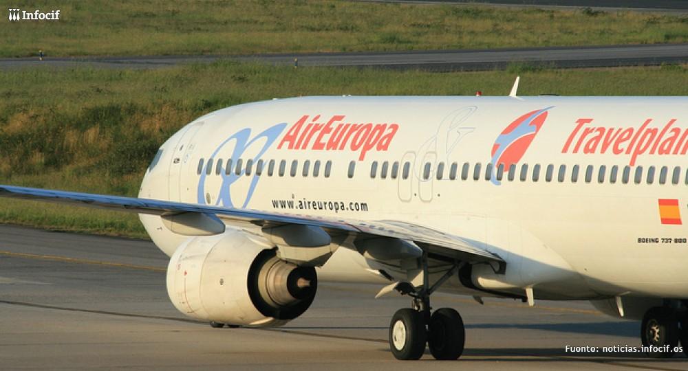 Uno de los aviones con los que cuenta la flota de Air Europa
