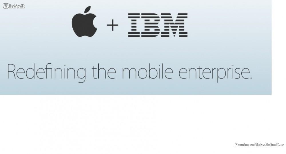 Apple e IBM se alían en el mercado móvil