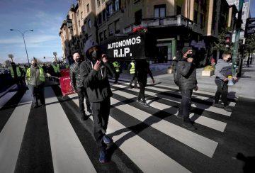 Manifestación de autónomos en Pamplona