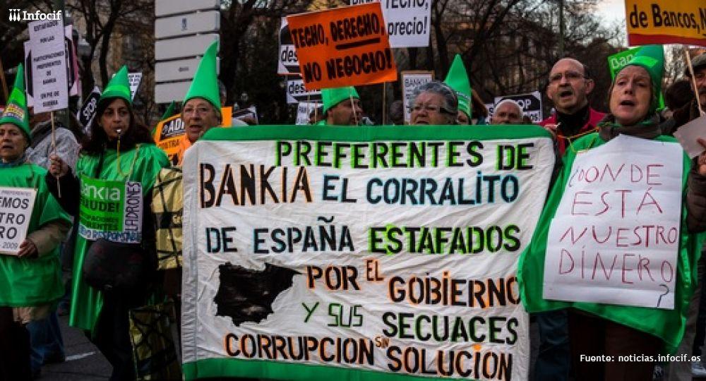 Algunas movilizaciones por las preferentes de Bankia