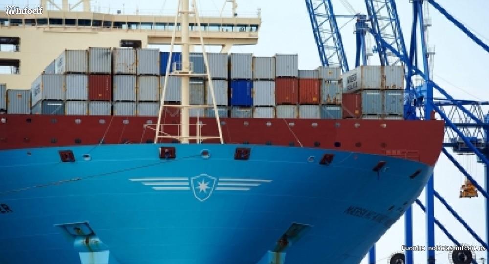 Un barco con contenedores en un puerto europeo. /EFE